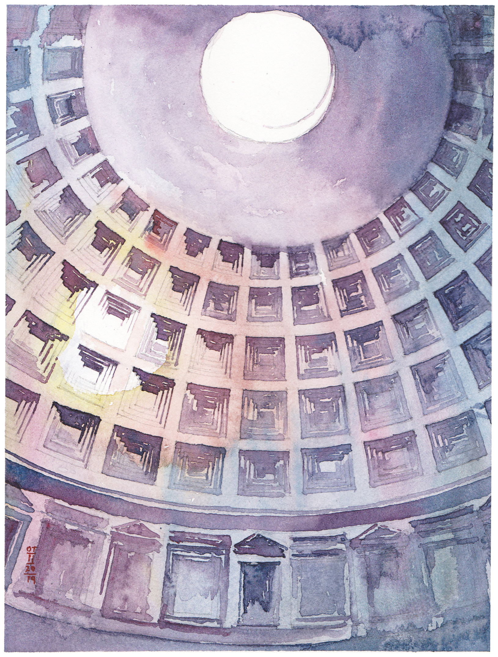 View of Pantheon Dome, Rome, Italy