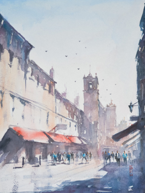 Watercolor Painting after Joseph Zbukvic