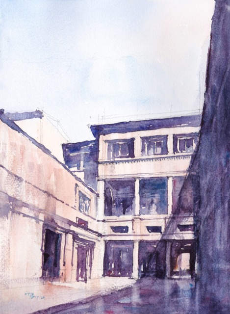 Courtyard view of Palazzo Massimo alle Colonne by Peruzzi